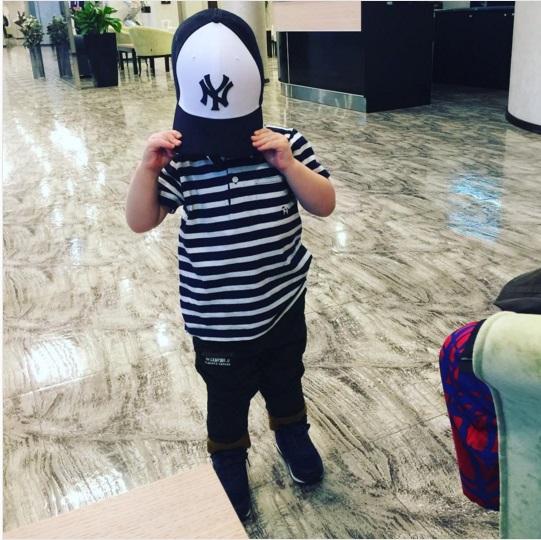 Винтернете появился снимок подросшего сына Сергея Лазарева